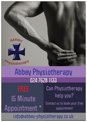 abbey physiotherapy physio nuneaton coventry hinckley bedworth free appointment